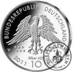 10 euro -  150 rocznica odkrycia praptaka  Archeopteryxa.
