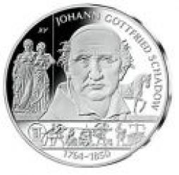 10 euro - 250-ta rocznica urodzin Johana Gotfryda Schadow