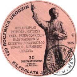 30 duszpasterskich - 150. rocznica urodzin ks. prałata Józefa Londzina (miedź - Φ 38 mm)