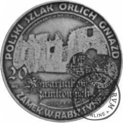 20 kwartników zamkowych - Rabsztyn (mosiądz srebrzony oksydowany)