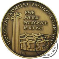 30-rocznica Pacyfikacji Kopalni - Wujek (mosiądz)
