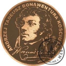 20 KOŚCIUSZKO (Tadeusz Kościuszko) / WZORZEC PRODUKCYJNY DLA MONETY - PRÓBA (miedź patynowana)