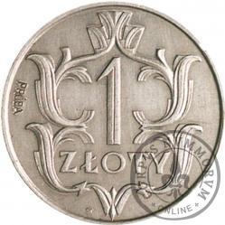 1 złoty - ornament, Al PRÓBA z lewej