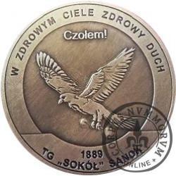 talar okolicznościowy - Towarzystwo Gmnastyczne Sokół / 1889 - TG Sokół Sanok (mosiądz oksydowany)