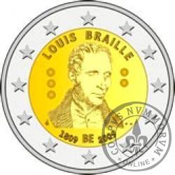 2 euro - 200 rocznica urodzin Louisa Braillea