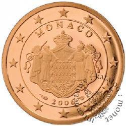 5 euro centów - stempel lustrzany