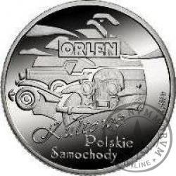PKN ORLEN (I emisja dodatkowa) - Kultowe Polskie Samochody / Warszawa (Ag, rewers pozłacany)