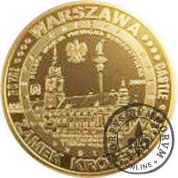7 grosiaków turystycznych / Warszawa (mosiądz)