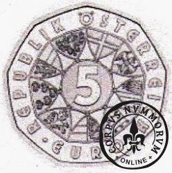 5 euro - 850 rocznica Mariazell