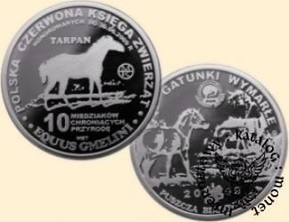 10 miedziaków chroniących przyrodę - TARPAN (mosiądz posrebrzany)