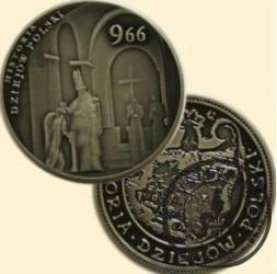 ROK 966: CHRZEST POLSKI (I emisja - alpaka oksydowana)