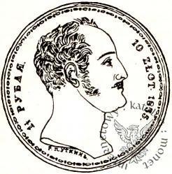 1 1/2 rubla - 10 złotych - koła, P.П.УТКИНЪ