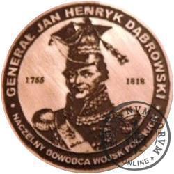 20 DĄBROWSKI (Gen. Jan Henryk Dąbrowski) / WZORZEC PRODUKCYJNY DLA MONETY (miedź patynowana)