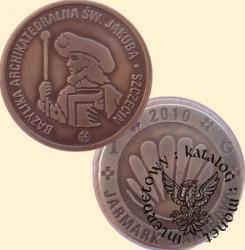 1 G - gulden jakubowy 2010 (mosiądz posrebrzany oksydowany)