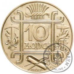 10 złotych - symbole, Ag duża, bok zb. st. zw.