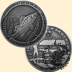 100 złotych rybek (Ag oksydowane) - X emisja / SANDACZ