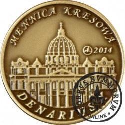 10 denarów - DENARIUS X (mosiądz patynowany - wersja krajowa) / Jan Paweł II - KANONIZACJA