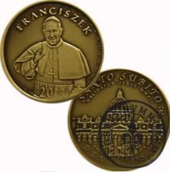 10 denarów - DENARIUS X (mosiądz patynowany) / Bazylika Św. Piotra w Rzymie / Santo Subito – Franciszek