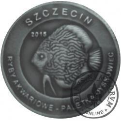 10 złotych rybek - Pomorze Zachodnie / Szczecin ~ Paletka dyskowiec (III emisja - alpaka oksydowana)