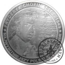 2000 chopinów / Fryderyk Chopin (mosiądz srebrzony oksydowany)