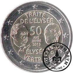 2 euro (D) - 50-ta rocznica podpisania Traktatu Elizejskiego