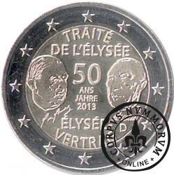 2 euro (G) - 50-ta rocznica podpisania Traktatu Elizejskiego