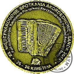XX MIĘDZYNARODOWE SPOTKANIA AKORDEONOWE W SANOKU / 100. ROCZNICA ODZYSKANIA NIEPODLEGŁOŚCI (mosiądz pozłacany)