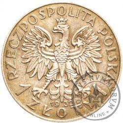 1 złoty - Polonia (głowa kobiety) Ag PRÓBA wyp. i wkl.