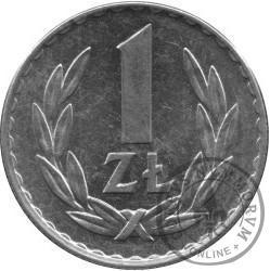 1 złoty - znak mennicy
