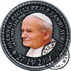 10 denarów - DENARIUS X (alpaka oksydowana + tampondruk - wersja krajowa) / Jan Paweł II - KANONIZACJA