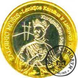 1 grunwald - Władysław II Jagiełło (bimetal posrebrzany / pozłacany)