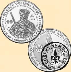 10 talarów królewskich - Bolesław I Chrobry  wg. A. Lessera (Ag.500)