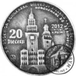 20 Diecezji - Błogosławiony Jan Paweł II - Karol Wojtyła 1920-2005 (żeton posrebrzany oksydowany)
