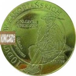 10 dutków zakopiańskich - Sabała (I emisja - bimetal pozłacany)