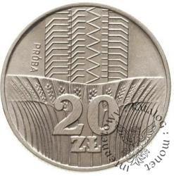 20 złotych - wieżowiec i kłosy