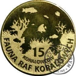 15 koralowców - ROGATNICA NIEBIESKA (XI emisja - mosiądz)