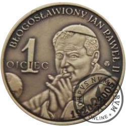 1 ojciec / Błogosławiony Jan Paweł II - 100 lat Szkoły podstawowej w Mesznej (mosiądz oksydowany)