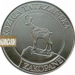 10 dutków zakopiańskich - KOZICA TATRZAŃSKA (II emisja - bimetal posrebrzany)