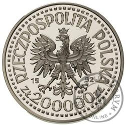 200 000 złotych - Władysław III Warneńczyk - półpostać