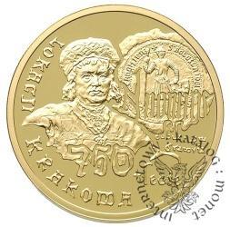 200 złotych - 750-lecie lokacji Krakowa