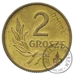 2 grosze - mosiądz
