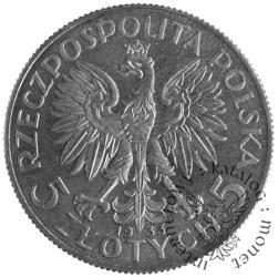 5 Złotych (Głowa Kobiety)(1932-1933) PRÓBA