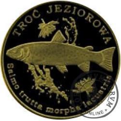 10 złotych rybek (mosiądz patynowany) - XLIX emisja / TROĆ JEZIOROWA