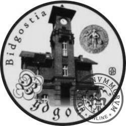 20 jantarów bałtyckich (BYDGOSZCZ) / WZORZEC PRODUKCYJNY DLA MONETY (miedź srebrzona oksydowana + bursztyn)