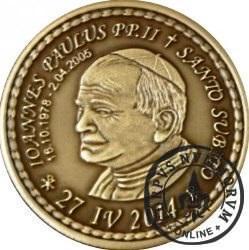 10 denarów - DENARIUS X (mosiądz patynowany - wersja eksportowa) / Jan Paweł II - KANONIZACJA