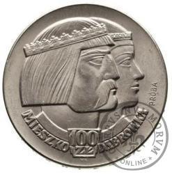 100 złotych - Mieszko i Dąbrówka - głowy w prawo