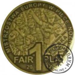 1 fair play / EURO 2012 (mosiądz oksydowany)