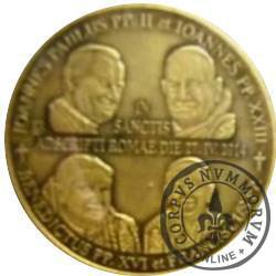 1 talar sanocki - Kanonizacja Jana Pawła II i Jana XXIII - 27.04.2014 (IX emisja - mosiądz oksydowany)