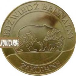 10 dutków zakopiańskich - NIEDŹWIEDŹ BRUNATNY (II emisja - bimetal pozłacany)