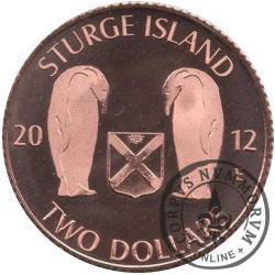 TWO DOLLARS / STURGE ISLAND - WESTARCTICA TERRITORIES (Emisja specjalna - Cu)